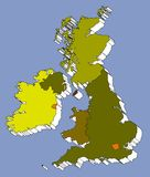 Mapa de Reino Unido Foto de Stock