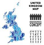 Mapa de Reino Unido del Demographics ilustración del vector