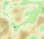 Mapa de relevo Imagens de Stock