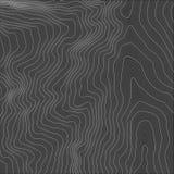 Mapa de relevo abstrato da terra do vetor Mapa conceptual gerado da elevação Imagens de Stock