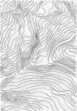 Mapa de relevo abstrato da terra do vetor Mapa conceptual gerado da elevação Imagem de Stock Royalty Free