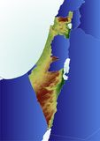 Mapa de relevo de Israel Fotos de Stock