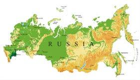 Mapa de relevo de Rússia Imagem de Stock