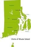 Mapa de Rhode - estado de console ilustração stock