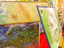 Mapa de Romênia Fotos de Stock
