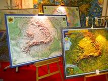 Mapa de Romênia Fotografia de Stock Royalty Free