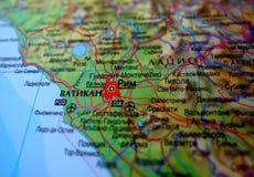 Mapa de Roma Fotografia de Stock Royalty Free