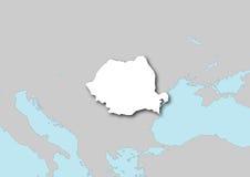 Mapa de Romania Fotos de Stock Royalty Free