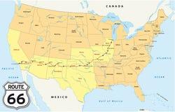 Mapa de Route 66
