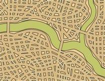 Mapa de rua em branco Imagens de Stock Royalty Free