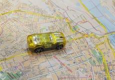 Mapa de ruas Imagem de Stock Royalty Free