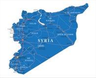 Mapa de Síria Fotos de Stock Royalty Free