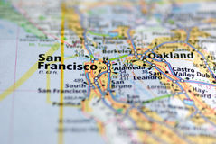 Mapa de San Francisco Imagem de Stock Royalty Free