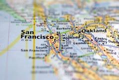 Mapa de San Francisco imagem de stock royalty free