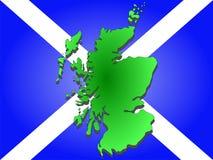 Mapa de Scotland Imagens de Stock Royalty Free