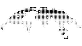 Mapa de semitono punteado Stock de ilustración