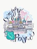 Mapa de Sergiyev Posad Doddle stock de ilustración