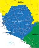 Mapa de Serra Leoa Ilustração Royalty Free