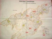 Mapa de Shopian Imagens de Stock Royalty Free