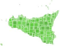 Mapa de Sicília (Italy) Imagens de Stock Royalty Free