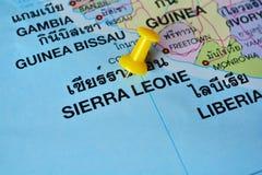 Mapa de Sierra Leão Foto de Stock Royalty Free