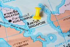 Mapa de Singapura Imagens de Stock Royalty Free
