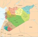 Mapa de Siria - ejemplo detallado del vector Fotografía de archivo