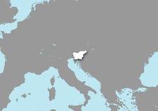 Mapa de Slovenia Imagens de Stock Royalty Free