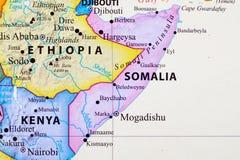 Mapa de Somália ilustração royalty free