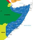 Mapa de Somália Ilustração do Vetor