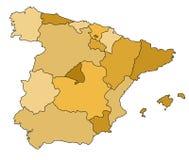 Mapa de Spain Fotografia de Stock