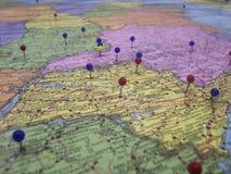 Mapa de Stategy Imagens de Stock