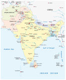 Mapa de 3Sul da Ásia Foto de Stock Royalty Free