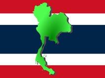 Mapa de Tailândia Fotos de Stock