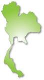 Mapa de Tailândia Fotos de Stock Royalty Free