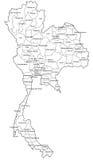 Mapa de Tailandia Foto de archivo libre de regalías