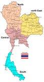 Mapa de Tailandia Imágenes de archivo libres de regalías