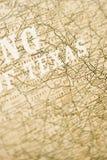 Mapa de Texas. imagem de stock royalty free
