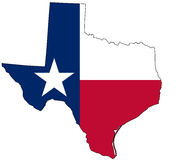 Mapa de Texas Imagem de Stock