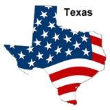 Mapa de texas Imagens de Stock Royalty Free