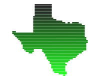 Mapa de Texas Foto de Stock Royalty Free