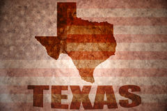 Mapa de texas do vintage imagem de stock