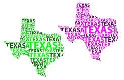 Mapa de Texas - ilustração do vetor Foto de Stock