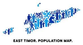 Mapa de Timor Oriental del Demographics stock de ilustración