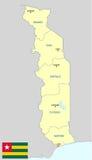 Mapa de Togo Imágenes de archivo libres de regalías