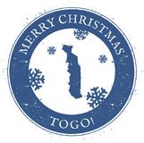 Mapa de Togo Feliz Natal Togo Stamp do vintage Fotografia de Stock