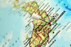 Mapa de Tokyo, Japão Imagem de Stock Royalty Free