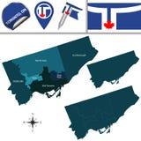 Mapa de Toronto com vizinhanças Imagens de Stock Royalty Free