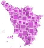 Mapa de Toscânia Fotos de Stock