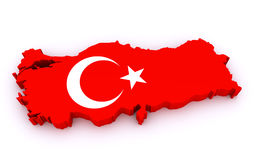 Mapa de Turquia Fotografia de Stock Royalty Free
